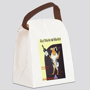 Red Merle Merlot Canvas Lunch Bag