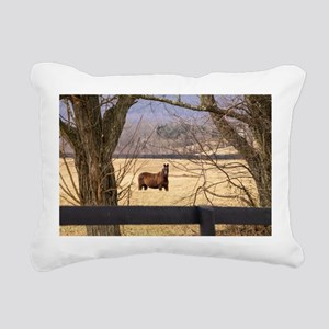 Horse Rectangular Canvas Pillow