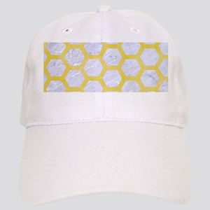 HEXAGON2 WHITE MARBLE & YELLOW WATERCOLOR (R) Cap