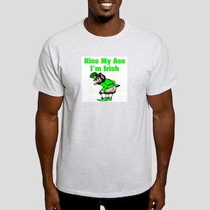 """Kiss My Ass I'm Irish"" Light T-Shirt"
