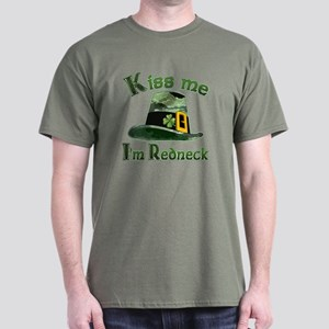 Kiss me I'm Redneck oh Irish Dark T-Shirt