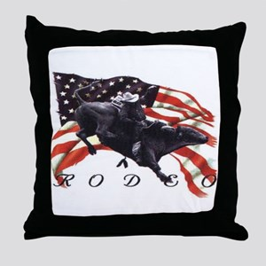 BULL RODEO Throw Pillow