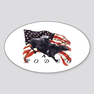 BULL RODEO Oval Sticker