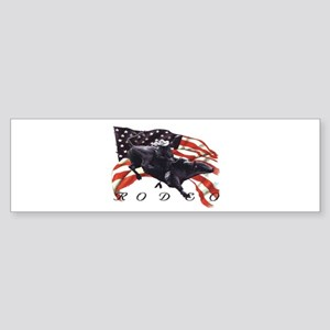 BULL RODEO Bumper Sticker