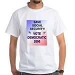 Save Social Security White T-Shirt
