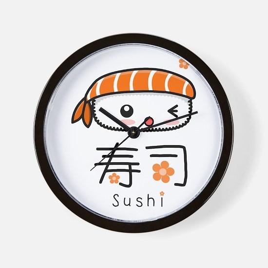 Kawaii Nigiri Sushi Wall Clock