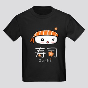 Kawaii Nigiri Sushi Kids Dark T-Shirt