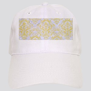 DAMASK1 WHITE MARBLE & YELLOW WATERCOLOR (R) Cap