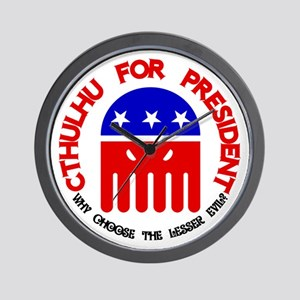 Cthulhu For President Wall Clock