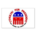 Cthulhu For President Rectangle Sticker
