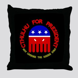 Cthulhu For President Throw Pillow