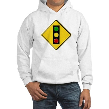 Poker Chip Traffic Light Hooded Sweatshirt