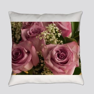 Pink Roses Everyday Pillow