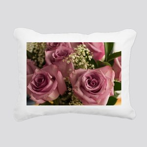 Pink Roses Rectangular Canvas Pillow
