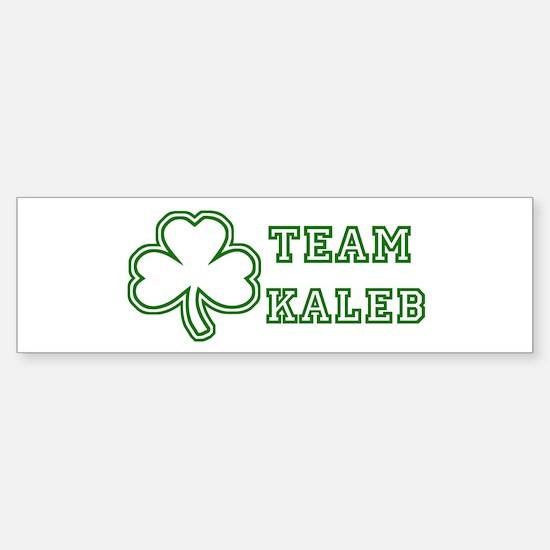 Team Kaleb Bumper Bumper Bumper Sticker