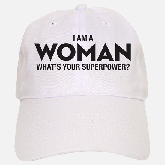I Am A Woman Baseball Baseball Cap