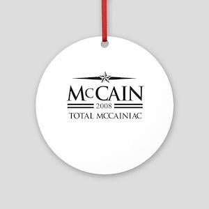 McCain 2008: Total McCainiac Ornament (Round)