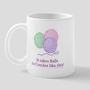 Balls to Crochet Mug