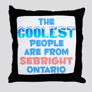 Coolest: Sebright, ON Throw Pillow