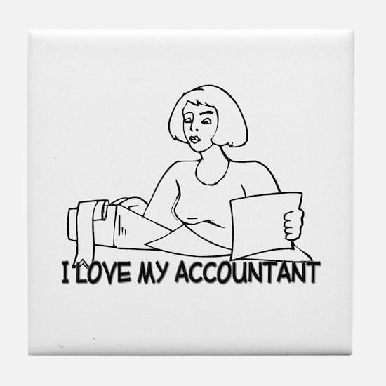 I Love My Accountant Tile Coaster