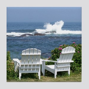 Downeast Oceanfront View Tile Coaster