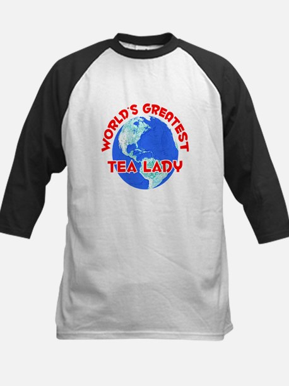 World's Greatest Tea l.. (F) Kids Baseball Jersey