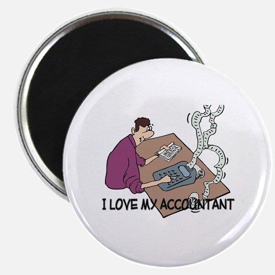 I Love My Accountant Magnet