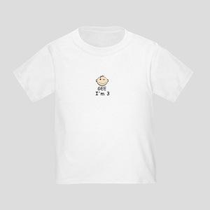 GEE I'M 3 /BIRTHDAY Toddler T-Shirt