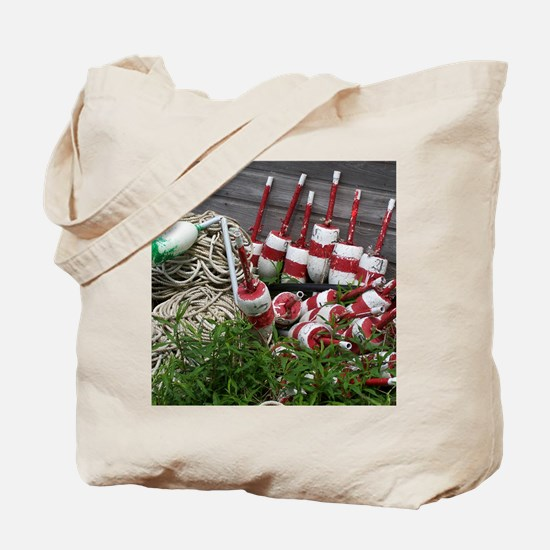 Maine Lobster Bouys Resting Tote Bag