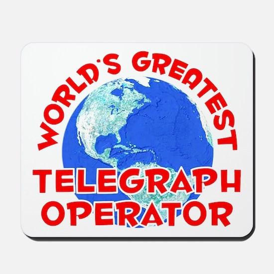 World's Greatest Teleg.. (F) Mousepad