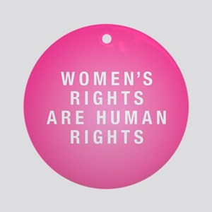 Women's Rights Round Ornament