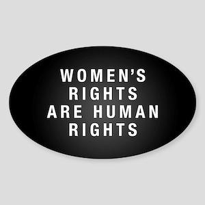 Women's Rights Sticker (Oval)