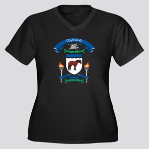 Clydesdale Coat Of Arms Women's Plus Size V-Neck D