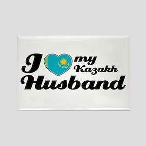 I love my Kazakh husband Rectangle Magnet