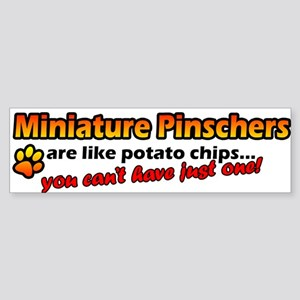 Potato Chips Miniature Pinscher Bumper Sticker