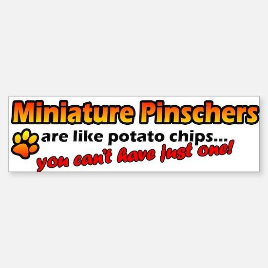 Potato Chips Miniature Pinscher Bumper Bumper Bumper Sticker