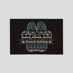French Bulldog 4' x 6' Rug