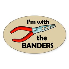I'm with the Banders Oval Decal