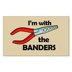 I'm with the Banders Rectangle Decal