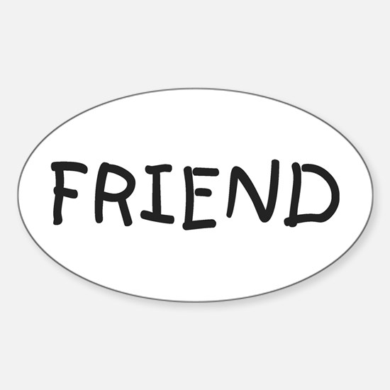 Friend Oval Decal