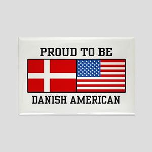 Proud Danish American Rectangle Magnet