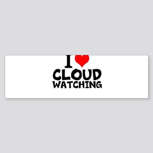 I Love Cloud Watching Bumper Sticker