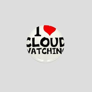 I Love Cloud Watching Mini Button