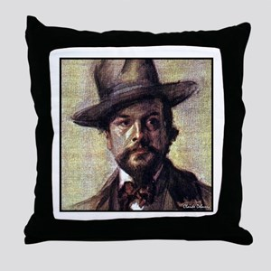 """Faces """"Debussy"""" Throw Pillow"""
