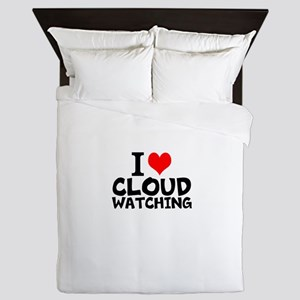 I Love Cloud Watching Queen Duvet