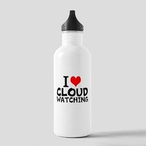 I Love Cloud Watching Water Bottle