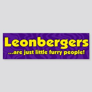 Furry People Leonberger Bumper Sticker