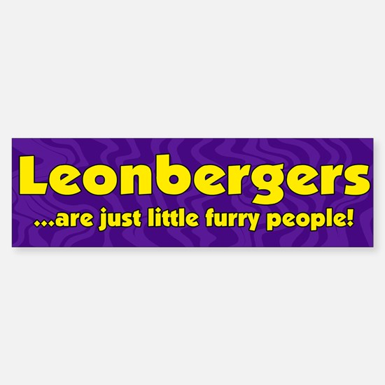 Furry People Leonberger Bumper Bumper Bumper Sticker