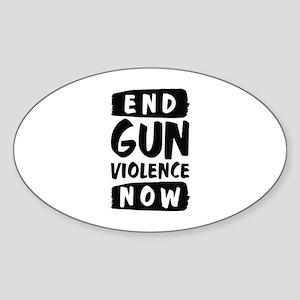 End Gun Violence Now Sticker (Oval)