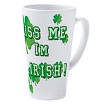Kiss Me I'm Irish 17 oz Latte Mug